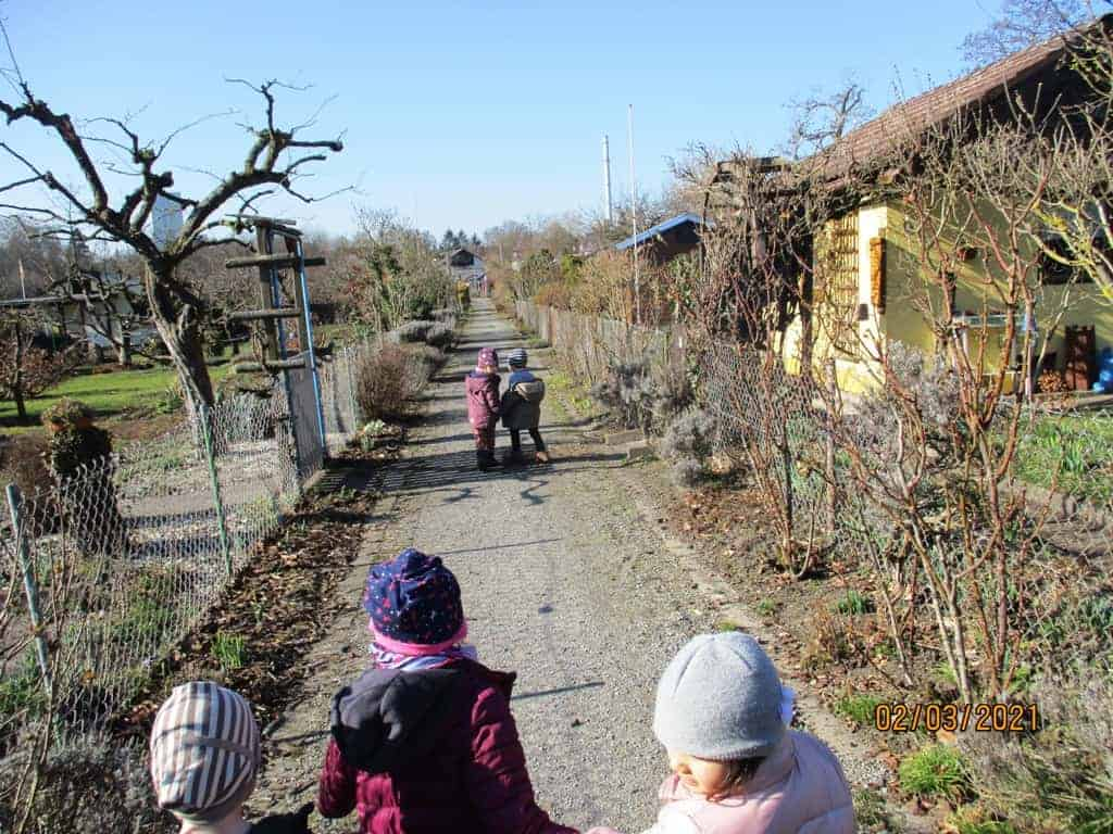 Auch im Winter ging es im Kita-Kleingarten voran!